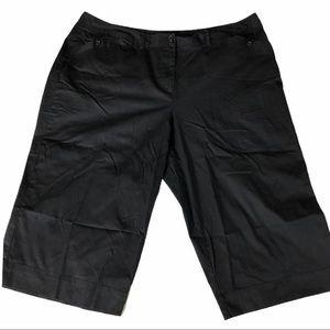 Lane Bryant black cotton stretch shorts size 26